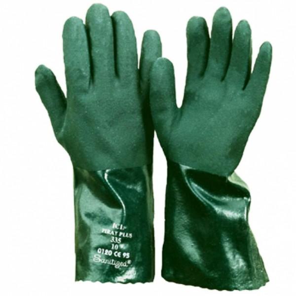 PVC Schutzhandschuh 35 cm, gesandet,